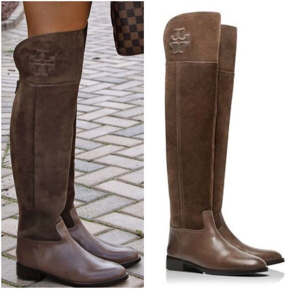 ff4408d4a75 TORY BURCH SIMONE OVER THE KNEE BOOT SUEDE BROWN. M 5a34a777739d48473e02d32b